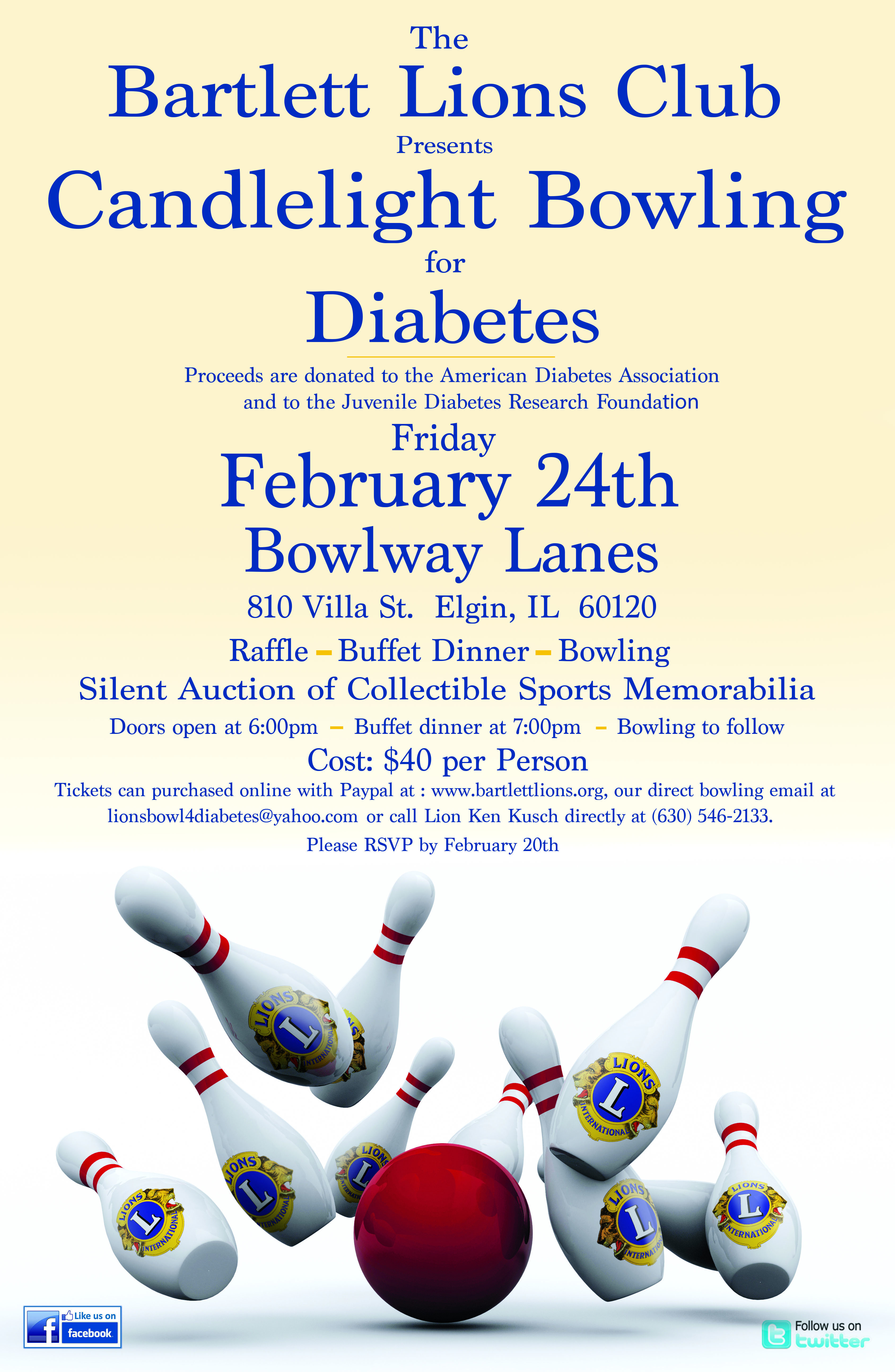 2017 Bowl for Diabetes Poster