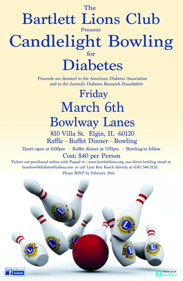 2020 Bowl for Diabetes Poster